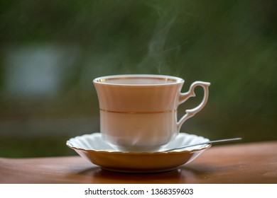 A hot morning cup of coffee