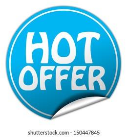 hot offer blue sticker