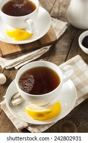 Hot Organic Black Tea with Fresh Lemon