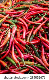 Hot Peppers close up.