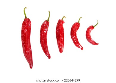 hot peppers on a white background