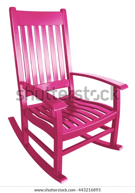 Peachy Hot Pink Rocking Chair Facing Right Stock Photo Edit Now Ibusinesslaw Wood Chair Design Ideas Ibusinesslaworg