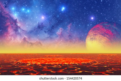 """Hot Planet - """"Elements of this image furnished by NASA"""""""