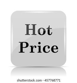 Hot price icon. Internet button on white background.