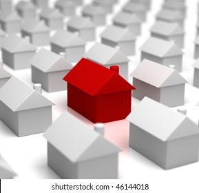 Hot Property amongst others (red house amongst the grey)