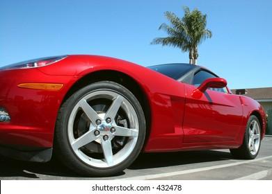 Hot Red car