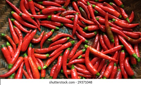 Hot red chillies