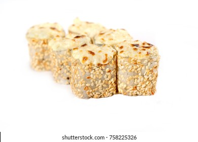 hot rolls on a white background