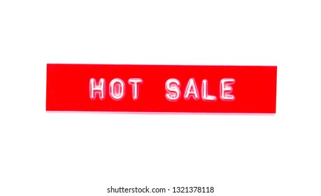 hot sale embossed word on plastic tape