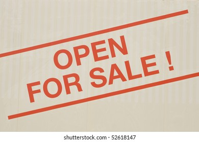 "A hot sale text ""open for sale"" of a ad selling houses."