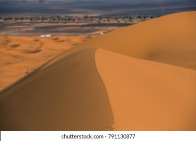 hot sand of dunes