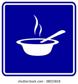 hot soup or oatmeal bowl sign