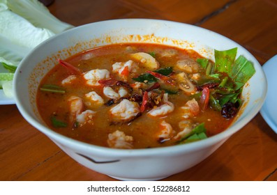 hot and sour soup (Tom Yum Goong, Thai food)
