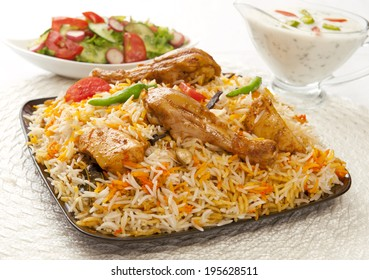 Hot & Spicy Chicken Biryani, A most famous food of Pakistani & Indian peoples