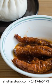 hot and spicy steamed chicken feet