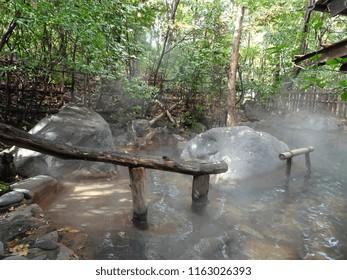 Hot spring baths (onsen) in Kurokawa, Kyushu, Japan