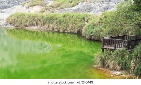 Hot spring lake