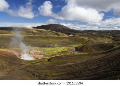 Hot spring at Landmannalaugar, Iceland