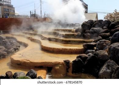 Hot spring in Obama city Japan