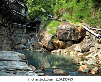 Hot spring Yunomine a village near Hongu Town in the south of Wakayama Prefecture, Kii peninsula, Japan, Asia