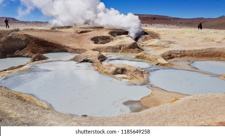 hot springs, El Tatio geysers in the Atacama desert in Chile, South America