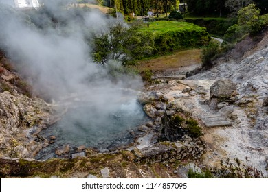 Hot springs, Furnas, Sao Miguel Island, Azores, Portugal.