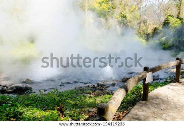 hot springs (Geyser type),unseen Thailand, Chaing mai
