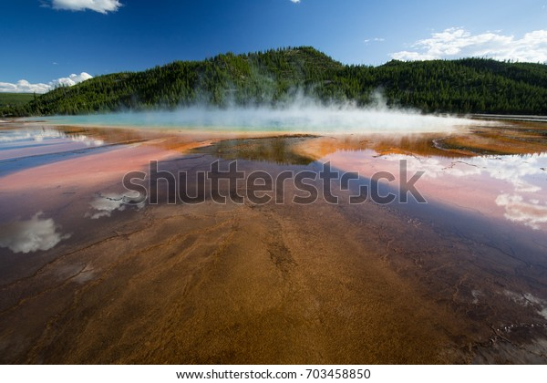 Hot Springs Yellowstone National Park Stock Photo (Edit Now) 703458850