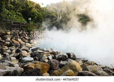 Hot steam at thermal valley, Beitou, Taipei, Taiwan