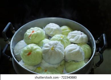 Hot steamed dumpling,chinese buns,pork bun