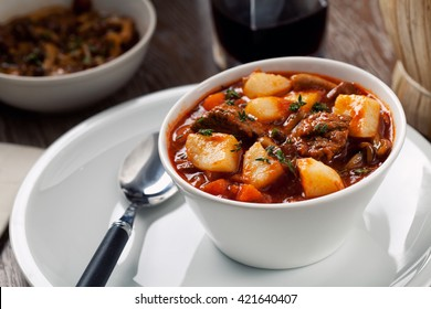 Hot stew with potatoes