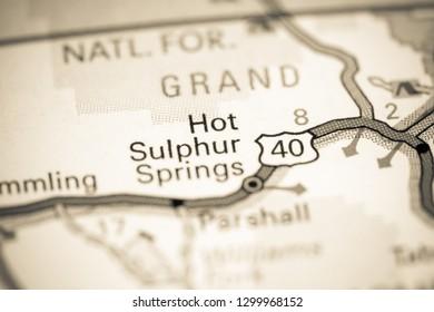Hot Sulphur Springs Colorado Map.Colorado Springs Map Stock Photos Images Photography Shutterstock