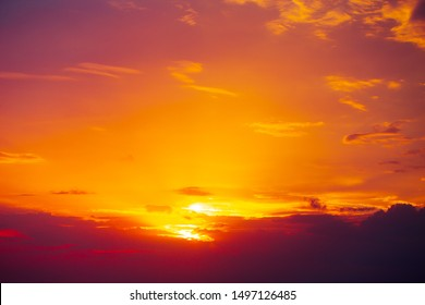 hot summer red sky sunny dusk dawn orange colour beautiful gradient natural background