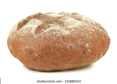 Hot tasty bread, isolated on white