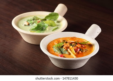 hot and tasty chinese soup with vegetables
