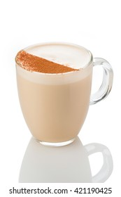 hot tea with spices . a traditional spiced tea with milk