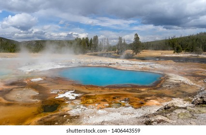 Hot Thermal Pool with Scenery