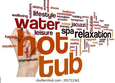 Hot tub word cloud concept