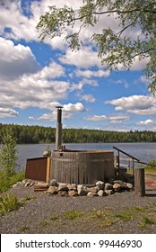 Hot tube near finnish lake