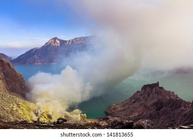 The hot volcano in indonesia place