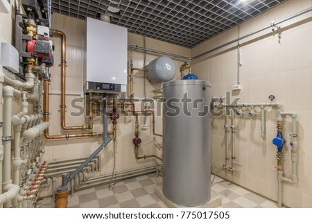 Hot Water Thermal Storage Tank Gas Stock Photo (Edit Now) 775017505 ...