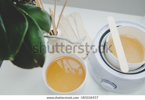 hot wax in white bowl for Hair removal