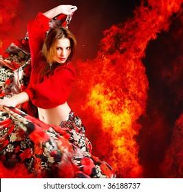 Hot woman dancer