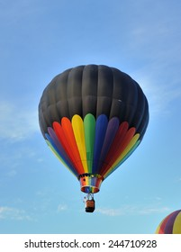 Hot-air balloon in the blue sky