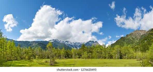 Hotaka mountain range, Kamikochi national park, Kamikochi, Japan.