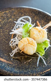Hotate Kushiyaki, Grilled Japanese Scallop Skewer