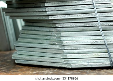 Hot-dip galvanized steel member for construction steel tower in transmission line bunch on the rack in warehouse