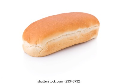 Hotdog bun isolated on a white background