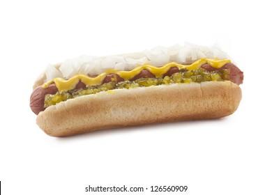 Hotdog Sandwich in a close-up image