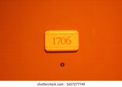 Hotel or apartment room sign. No 1706